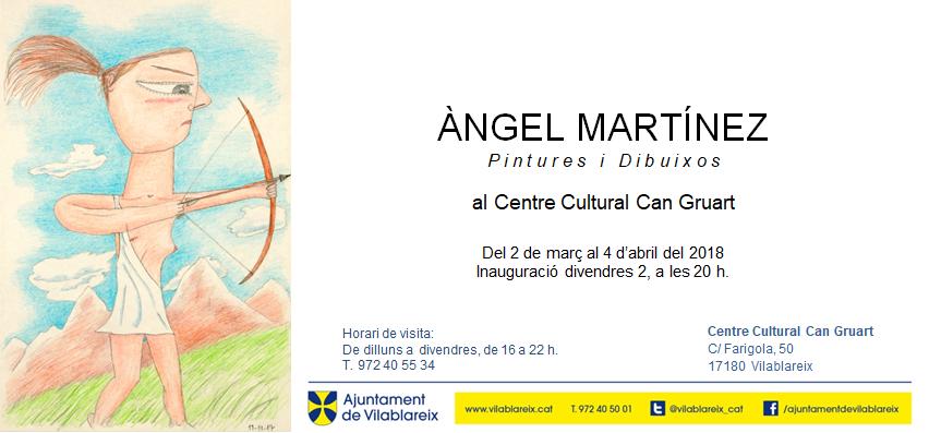 Exposició. Del 2 de març al 4 d'abril del 2018. Centre Cultural Can Gruart, Vilablareix